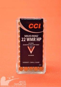 MUNICION CCI .22 WMR MAXI MAG 40 Gr HP