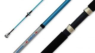 CAÑA SHIMANO KIDSTIX KS462SPIN 1.37 mts 2 fibra de vidrio goma eva 2-10 grs