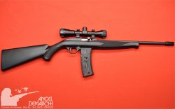 CARABINA MOSSBERG SEMI M715 TACTICAL C/MIRA SINTETICO/PAVON CAL .22 LR