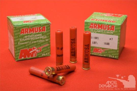 CARTUCHO ARMUSA CAL 36 - 11 GR PLA-1 MUN 7
