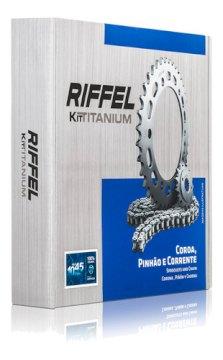 KIT TRANSMISION RIFFEL HONDA CG 150 TITAN (16x43) 428H