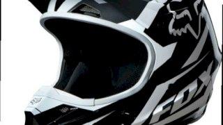 CASCO FOX V1 RACE NEGRO, GRIS Y BLANCO TALLE XXL