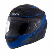 CASCO LS2 352 ROOKIE RECRUIT BLACK BLUE TALLE M