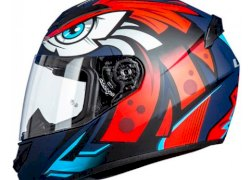 CASCO LS2 352 ROOKIE TRIBAL MATT BLUE TALLE M