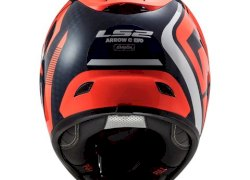 CASCO LS2 323 ARROW C EVO STING AZUL FLUOR NARANJA