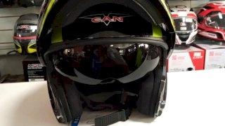 CASCO V-CAN V270 FLIP UP BLACK SPLINE - TALLE L