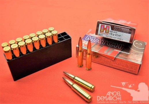 MUNICION HORNADY .308 MATCH - BTHP 178 Gr SPF
